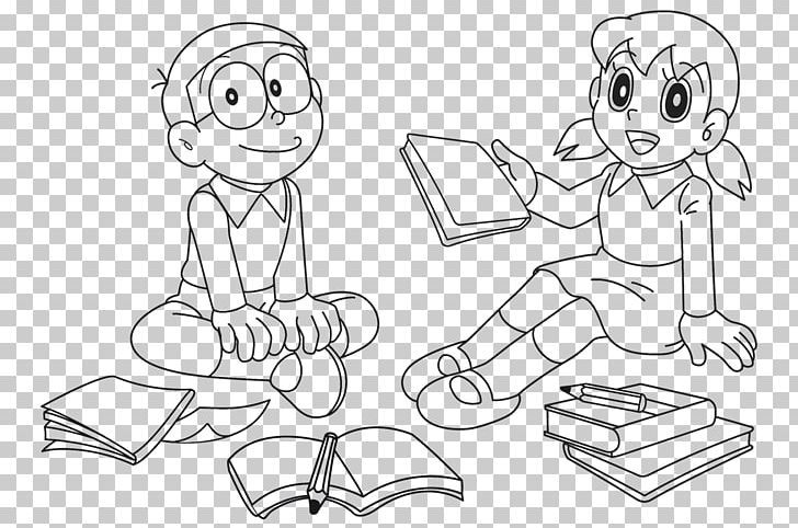 Drawing Doraemon Wii Shizuka Minamoto Coloring Book Png Angle Area Arm Artwork Black And White Coloring Books Doraemon Drawings