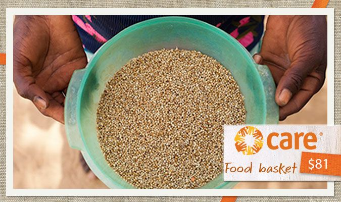 $81 can buy a food basket to provide a family with 1,069 calories per person daily. Baskets can include items such as short-grain rice, bulgur wheat, spaghetti, red lentils, vegetable oil, olive oil, tomato paste, canned tuna fish, canned beans, dates, tea and sugar.