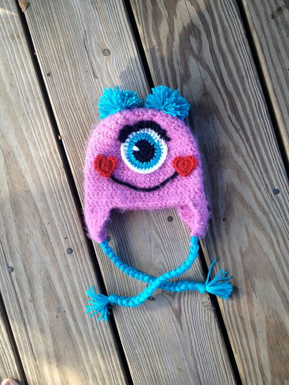 Instant Download PDF Monster Hat Crochet Pattern by BizeeB