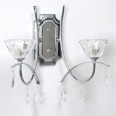 Gen lite two light wall sconce chrome and glass sears sears canada 49 99