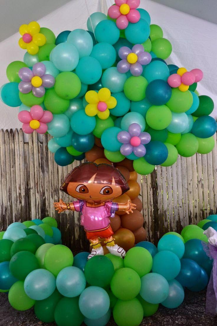 decoracin de fiesta infantil de dora la exploradora