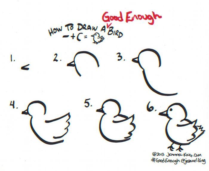 How to draw a #GoodEnough Bird #GraphicFacilitation #GraphicFacilitation #GraphicRecorder