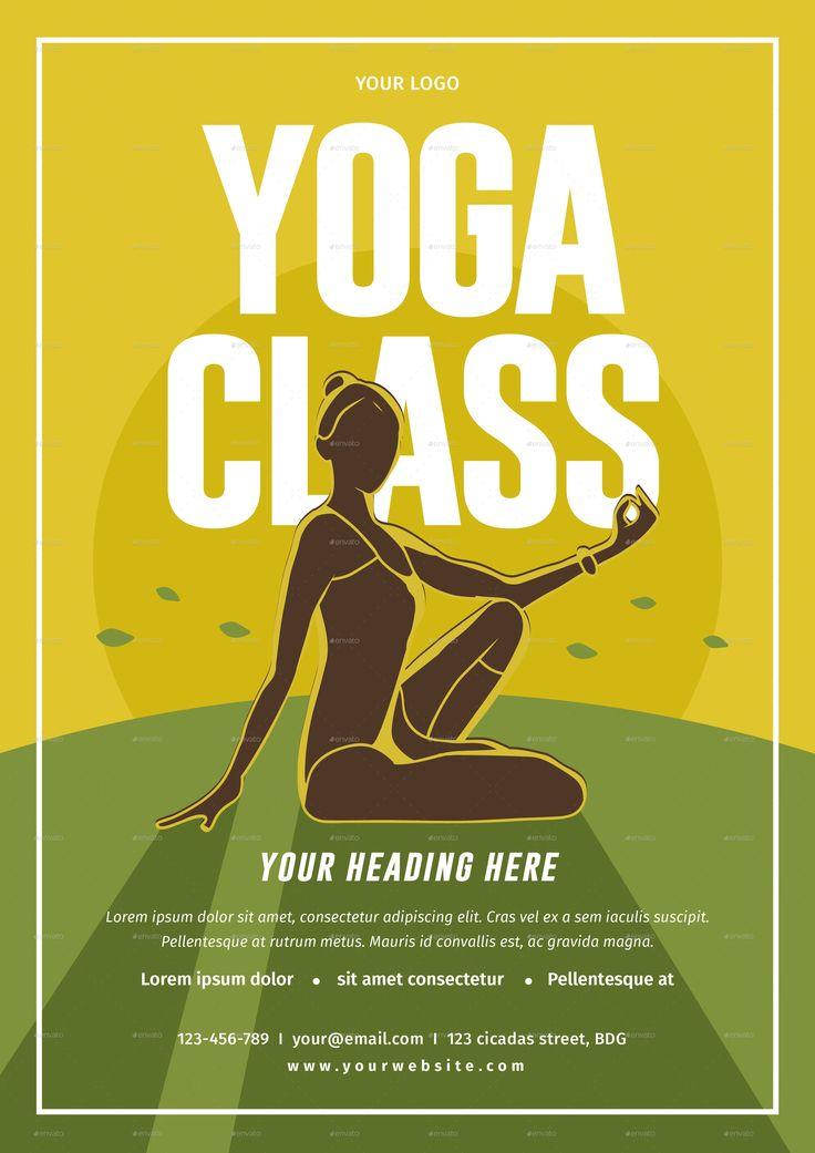 34 best YOGA images on Pinterest Yoga flyer, Flyer design and Flyers - yoga flyer
