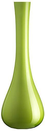 Leonardo Glas Vase Sacchetta, 40 cm, grün