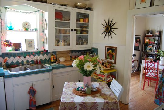 bright, funky kitchen
