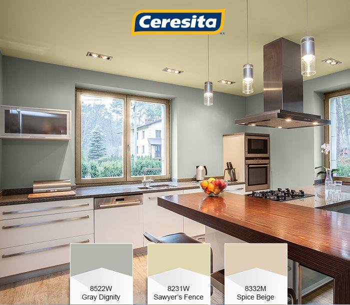 #CeresitaCL #PinturasCeresita #color #cocina #pintura #decoración #espacios *Códigos de color sólo para uso referencial. Los colores podrían lucir diferentes, según calibrado de su monitor