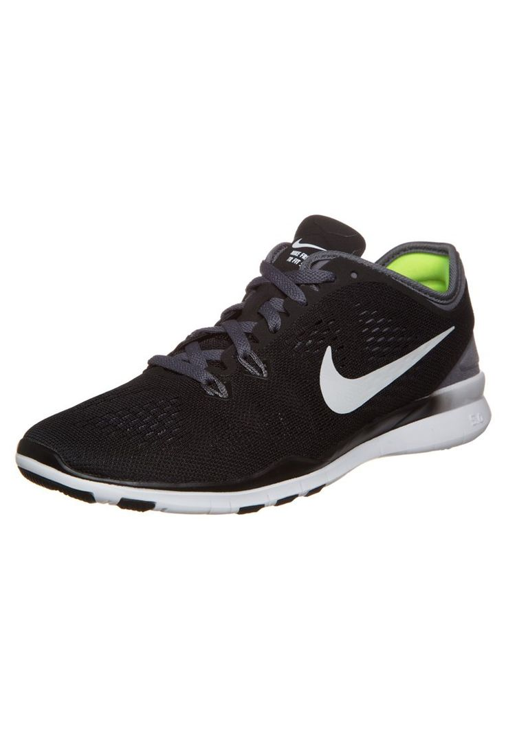 Nike Performance FREE TR FIT 5 - Sports shoes - black/white/dark grey for  with free delivery at Zalando
