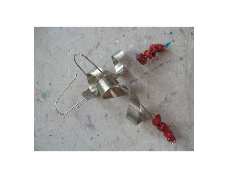 twisted metal handmade earrings