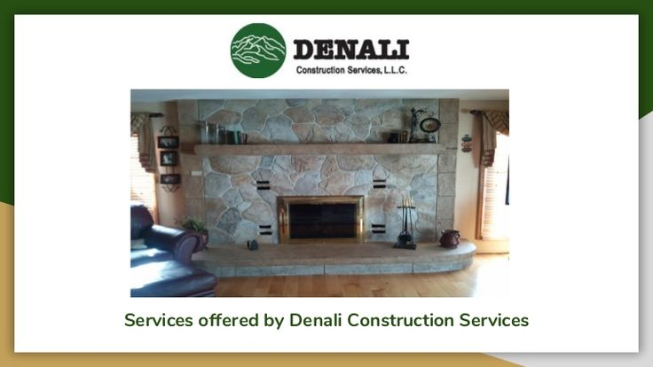 Following services are offered  by Denali Construction Services:  - Stamped Concrete - Decorative Overlay - Cast in Place Overlay - Vertical Overlays - Vertical Stamping