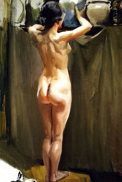 Sorolla y Bastida, Joaquin (1863-1923) - 1910c. Nude Woman (Sorolla Museum, Madrid, Spain) | Flickr - Photo Sharing!