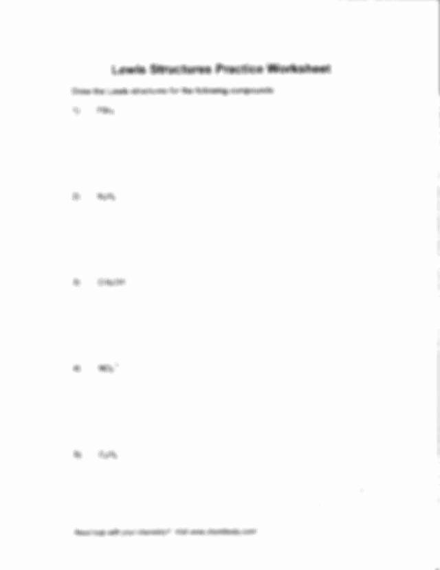 50 Lewis Structure Practice Worksheet In 2020 Persuasive Writing