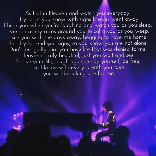 Prince's lyrics were always poetic!