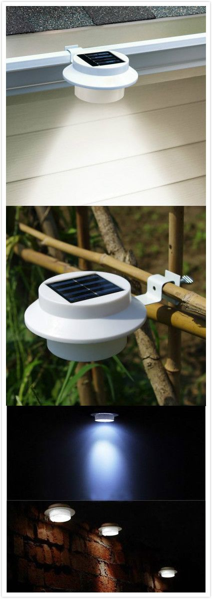 cis 57155a 3 led solar gutter light