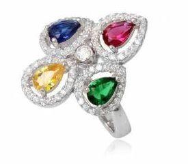 SKYLAR multicolor prsten s kubickymi zirkonmi