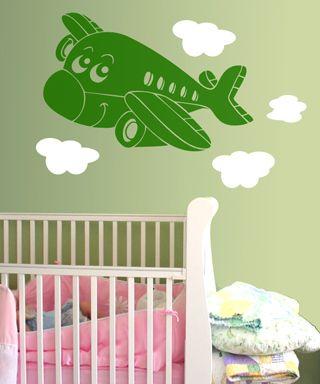 Wall Decal - Αυτοκόλλητο τοίχου - Airplane - Αεροπλανάκι 1