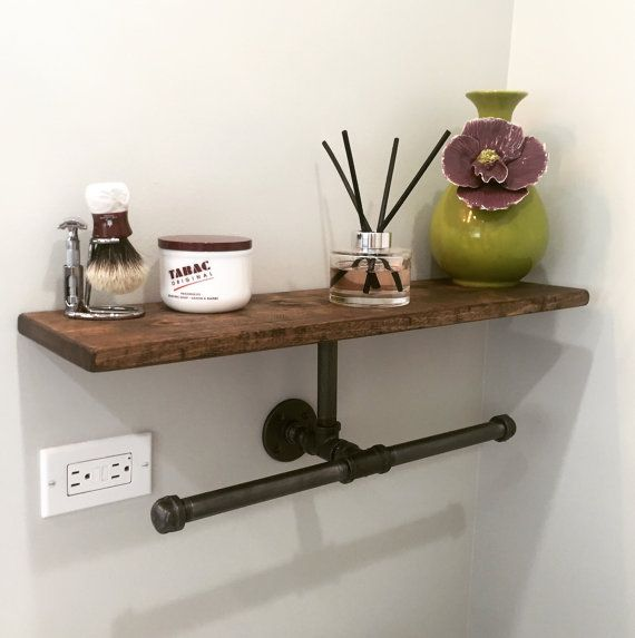 Industrial/ Modern/Rustic Double Hand Towel Holder with by Lulight
