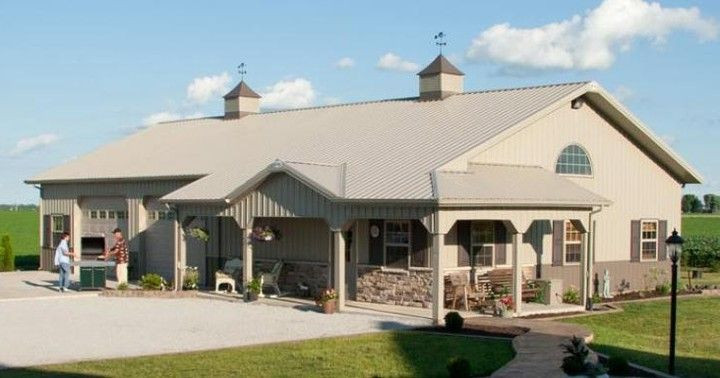 Metal Building Homes On Instagram This Delightful And Wonderful Home Is The Perfect Choice To Start Building In 2020 Pole Barn Homes Metal Building Homes Barn House