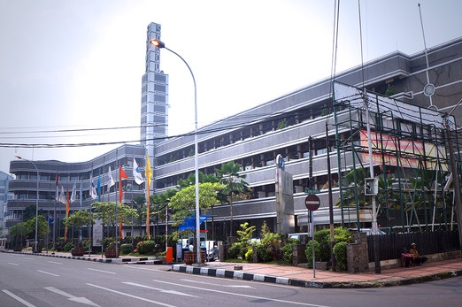 The Savoy Homan Hotel in Jalan Asia Afrika. Photo by Icha Rahmanti.