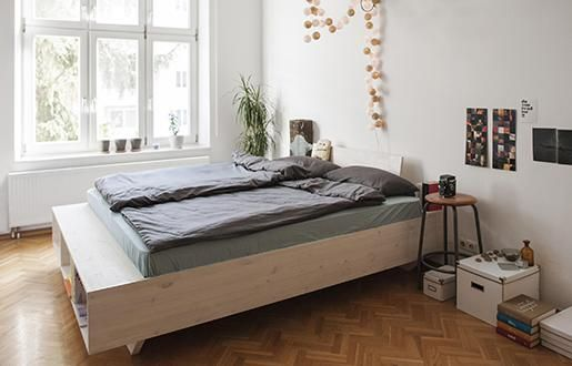 die besten 25 bett mit stauraum ideen auf pinterest. Black Bedroom Furniture Sets. Home Design Ideas