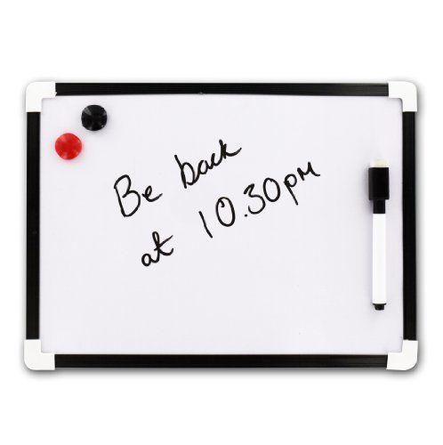 A4 Dry Wipe Magnetic Whiteboard Mini Office Notice Memo White Board Pen and Eraser Shopmonk