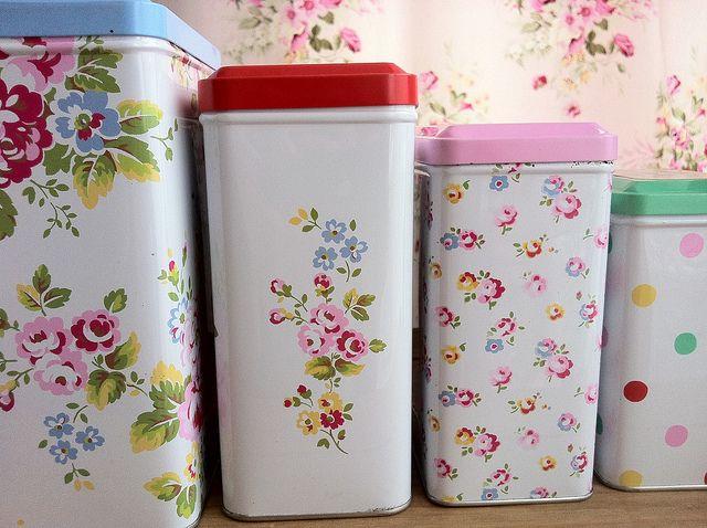 Cath Kidston tins....., via Flickr.