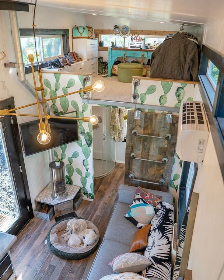 In A Tiny House Where Do You Even Put Your Clothes For Our Home We Utilize The Second Loft Tiny House Interior Design Tiny House Interior Tiny House Decor