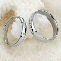 Fine Jewelry Stainless Steel Ring Carved Heart Couple Rings Best...