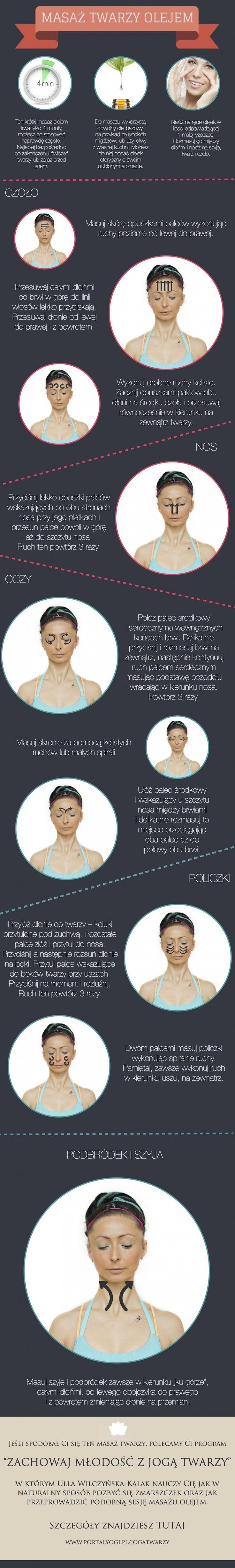 Masaż twarzy olejem to naturalny sposób aby pozbyć się zmarszczek