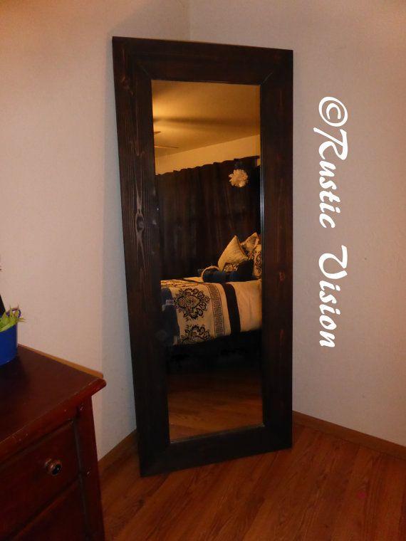 Rustic wood full length floor mirror bedroom ideas for Full length wall mirrors for bedroom