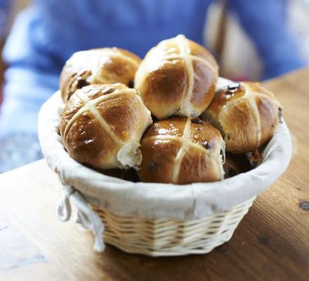 Chocolate chip hot cross buns. Kids can help make these alternative spiced Easter buns - the recipe helps with kneading, shaping, piping and division skills