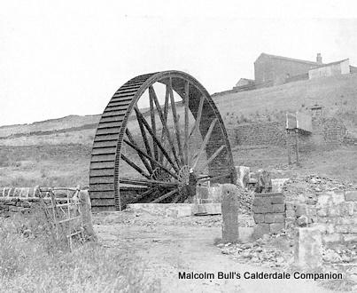 The water wheel at Spring Mill, Wainstalls