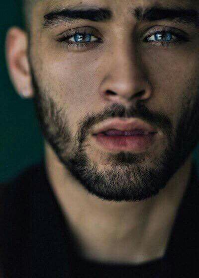 Zayn Malik with blue eyes