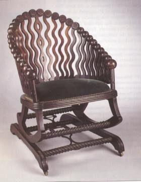 industrial age furniture. george hunzinger platform rocker industrial revolution patent furniture httpquizletcom age