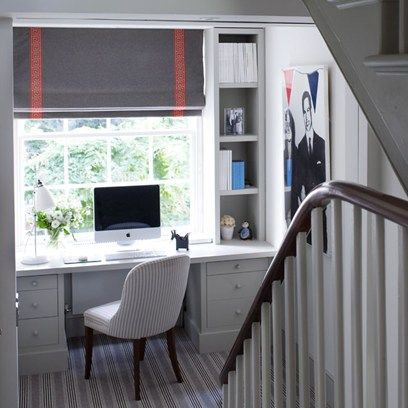 Small spaces, HUGE inspiration. See all our design ideas for a small space, including this tiny office space that makes the most of the landing