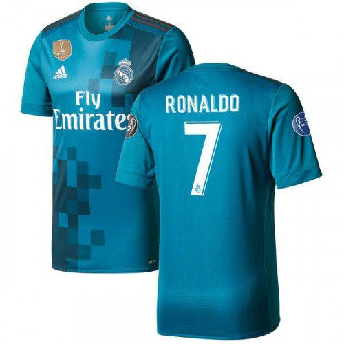077376d1a Men s+Cristiano+Ronaldo+ 7+Real+Madrid+2017 18+Third+ CR7+JERSEY ...