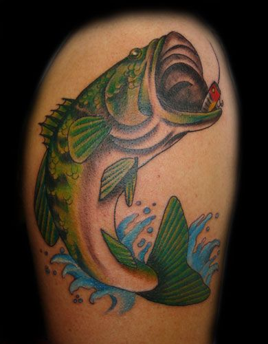 largemouth skelleton tattoo pictures to pin on pinterest tattooskid. Black Bedroom Furniture Sets. Home Design Ideas