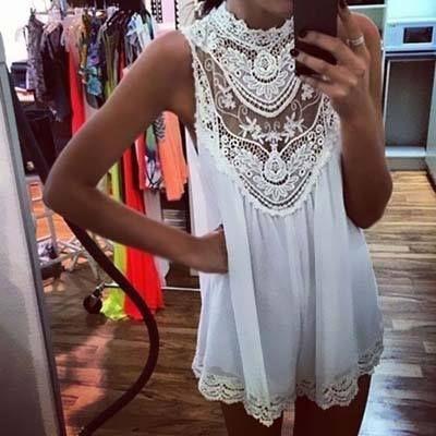 #white #dress #lace #cute