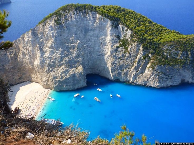 Navagio has been called the prettiest beach in all of Greece. I can see why!