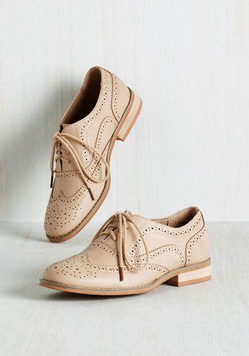 1930s oxfrod shoes. Talking Picture Flat in Biscuit $49.99 AT vintagedancer.com