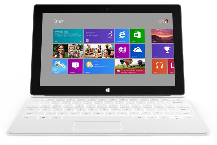 """""""Surface"""" Windows 8 Tablet. love that it has a key board and the white is awesome"""
