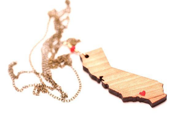 California necklace - california love necklace - The sunshine state - LA - Los angeles - san diego necklace - san francisco necklace
