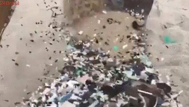 Vídeo mostra a grande quantidade de plástico nas areias das praias