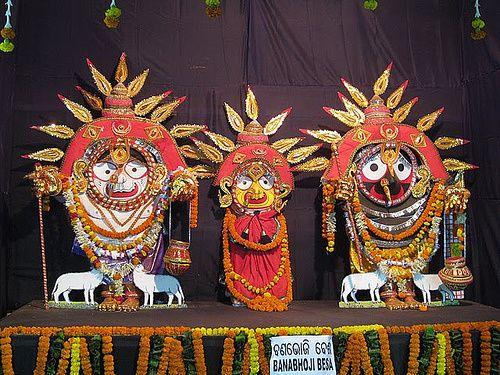 BanaBhoji Besha Of Lord Jagannath : The Picnic Attire Of Lord Jagannath to show the Human Culture to Society #Jagannath #Odisha | eOdisha.OrgeOdisha.Org