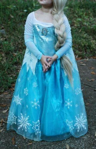 Resultado de imagen para vestidos de princesa de frozen para niña