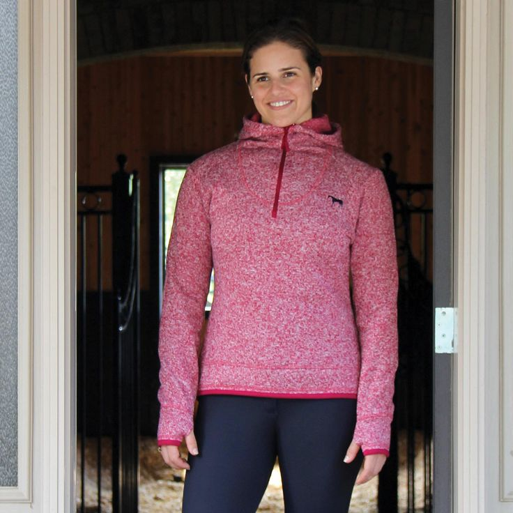 AERION™ ROSEMARY COWL NECK QUARTER ZIP Cozy and functional quarter zip sweater, perfect for winter riding. Features cowl neck and hood for added warmth. Cherries Jubilee. Sizes: XS - XXL.  DRC8395 GREAT PRICE: $54.99 *PRICES VALID SEPTEMBER 1ST – JANUARY 31ST, 2016