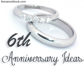 A complete list of traditional 6th anniversary gifts and modern 6th anniversary gifts, plus romantic 6th anniversary ideas.