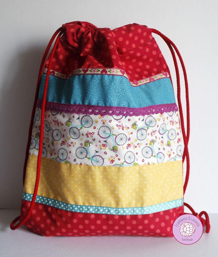 #mochila #niña #handmade #patchwork #costura #infantil