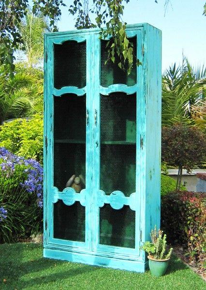 Aqua Cabinet. CHALK PAINT®, Painted Furniture, San Clemente, CA    www.MAKandJill.com