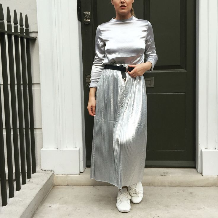 All silver look created for LFW SS17 - wearing H&M, ASOS and Primark.