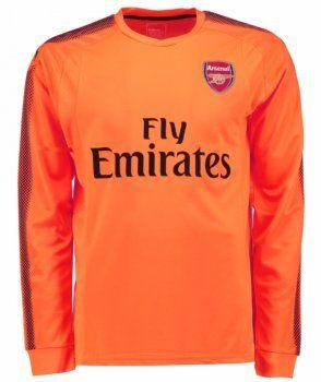 03478ba1c Arsenal 2017-18 Season LS Goalkeeper Orange Shirt  L324